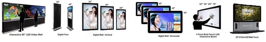 Touchscreen LCD monitors