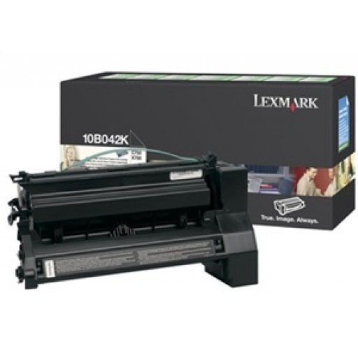 Lexmark 10B042K, Toner Cartridge HC Black, C750- Original