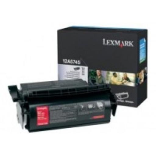 Lexmark 12A5745, Toner Cartridge- HC Black, T610, T614- Genuine