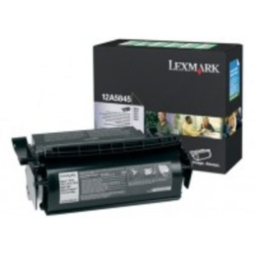 Lexmark 12A5845, Toner Cartridge- HC Black, T610, T614- Genuine