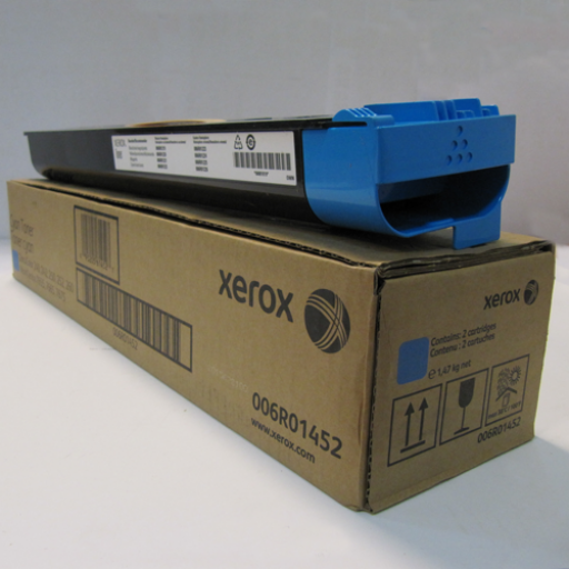 Xerox 006R01452, Toner Cartridge Twin Pack Cyan, Work Centre 7655, 7665, 7675, 7755- Original