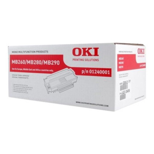 Oki 1240001, Toner Cartridge- HC Black, MB260, MB280, MB290- Genuine
