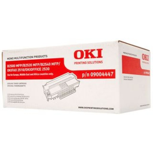 Oki 09004447, Toner Cartridge Black, B2500, B2520, B2540, 2510- Original