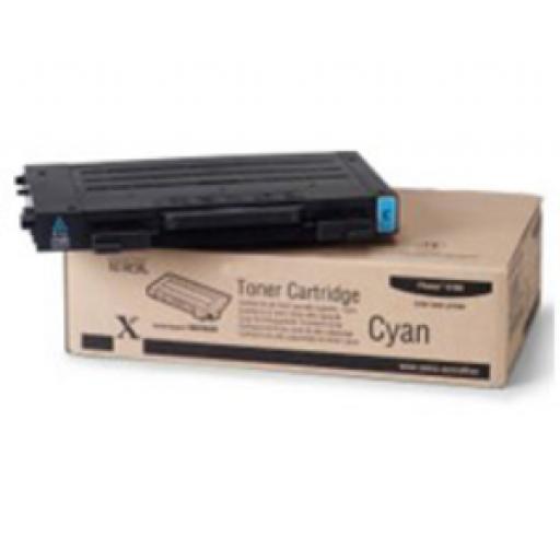 Xerox 106R00676, Toner Cartridge- Cyan, Phaser 6100- Original