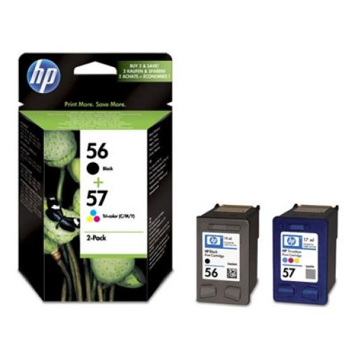HP SA342AE No.56 / No.57 Ink Cartridge - Black & Tri-Colour Multipack Genuine