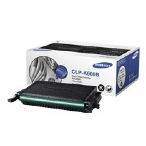 Samsung CLP-K660B Toner Cartridge - HC Black Genuine