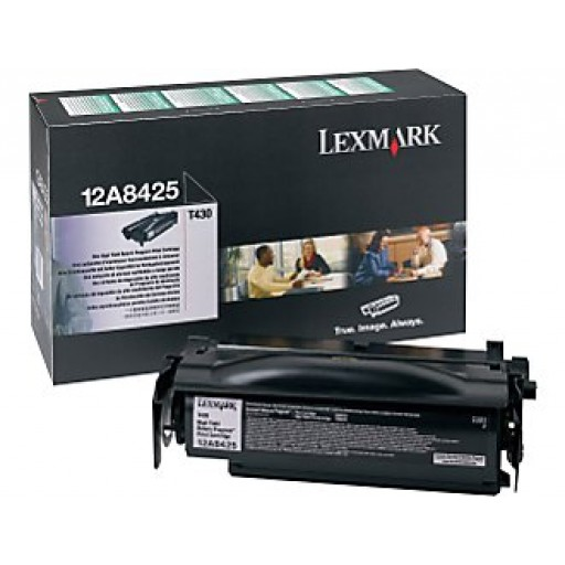 Lexmark 12A8425, Toner Cartridge Black, T430- Original