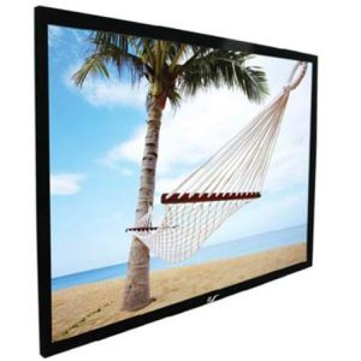 Elite R135WV1-BLACK EZ Frame Fixed Frame Projection Screen