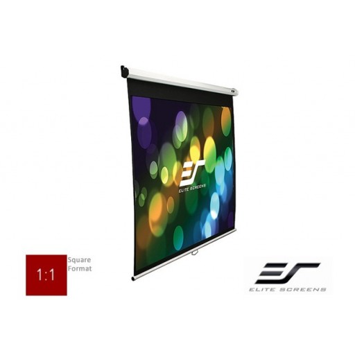 Elite M136XWS1-WHITE Manual Pull Down Projection SCreen