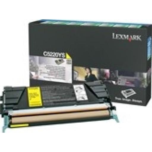 Lexmark C5220YS, Toner Cartridge- Yellow, C522, C524- Genuine