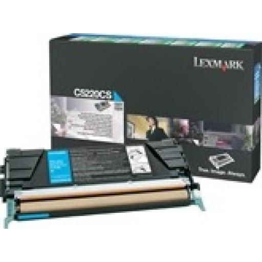 Lexmark C5220CS, Toner Cartridge- Cyan, C522, C524- Genuine