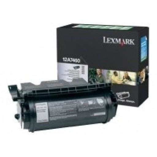 Lexmark 12A7460, Toner Cartridge Black, T630, T632, T634- Original