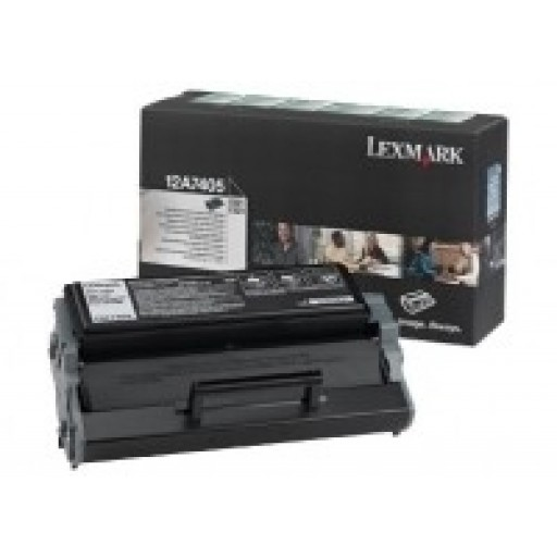 Lexmark 12A7405, Toner Cartridge HC Black, E321, E323- Original