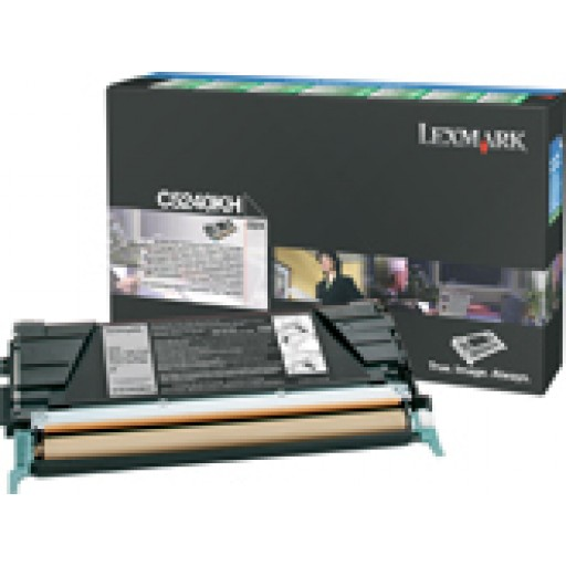Lexmark C5240KH, Toner Cartridge HC Black, C524, C534- Original