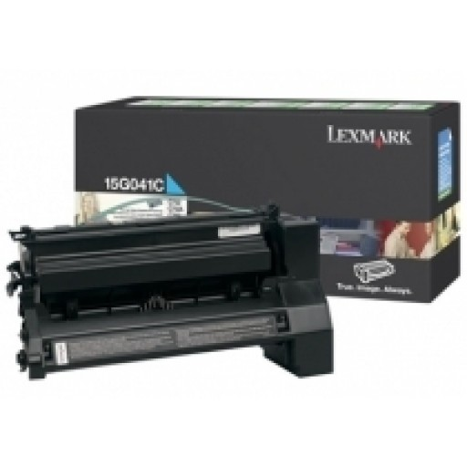 Lexmark 15G041C Toner Cartridge - Cyan Genuine