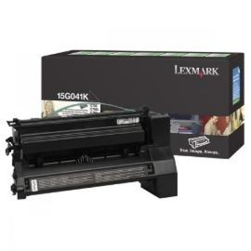 Lexmark 15G041K, Toner Cartridge- Black, C752, C760, C762- Original