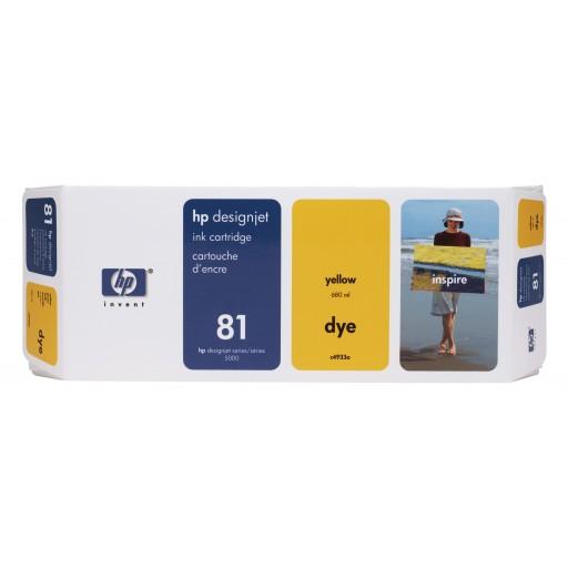HP C4933A No.81 Ink Cartridge - Yellow Genuine