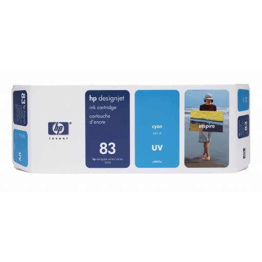 HP C4941A No.83 Ink Cartridge - Cyan Genuine