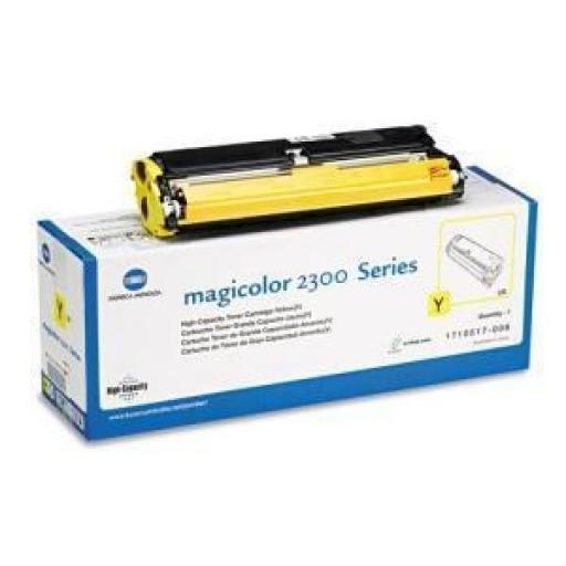 Konica Minolta 1710517006, Toner Cartridge HC Yellow, Magicolour2300, 2350- Original