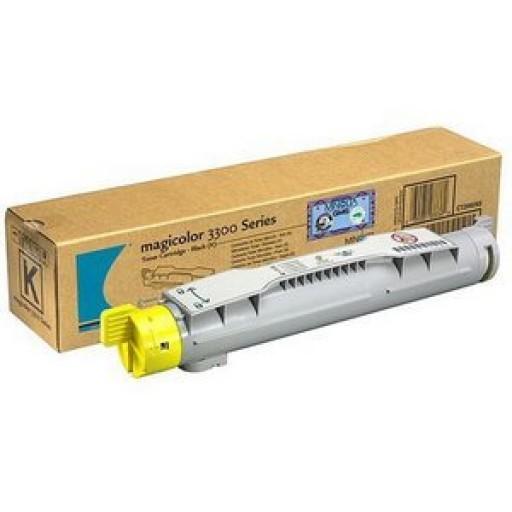Konica Minolta 1710550002, Toner Cartridge Yellow, Magicolor 3300- Original