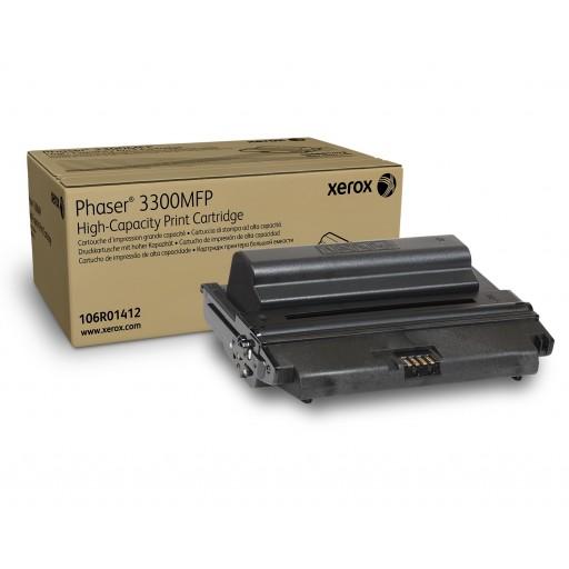 Xerox 106R01412, Toner Cartridge- HC Black, Phaser 3300- Original