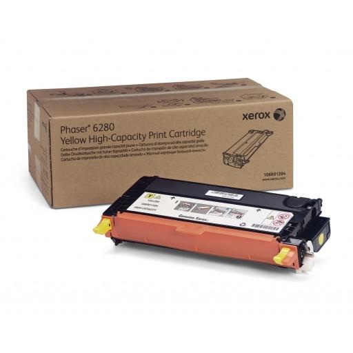 Xerox 106R01394, Toner Cartridge HC Yellow, Phaser 6280- Original