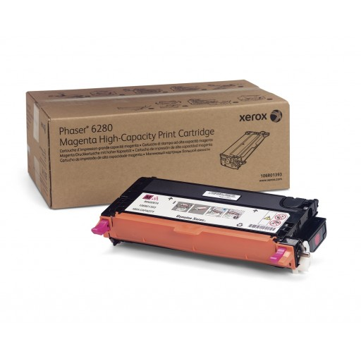 Xerox 106R01393, Toner Cartridge HC Magenta,Phaser 6280- Original