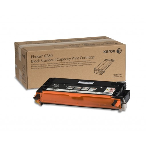 Xerox 106R01391, Toner Cartridge Black, Phaser 6280- Original