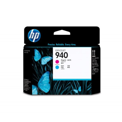 HP C4901AE No.940 Magenta & Cyan Printhead Genuine