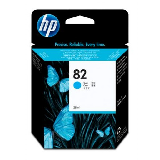 HP C4911A No.82XL Ink Cartridge - HC Cyan Genuine