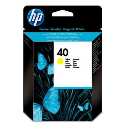 HP 51640YE No.40 Ink Cartridge - Yellow Genuine