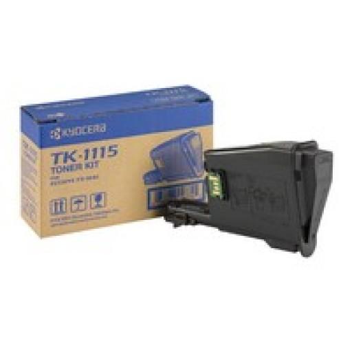 Kyocera Mita TK-1115, Toner Cartridge- Black,  FS-1320- Genuine
