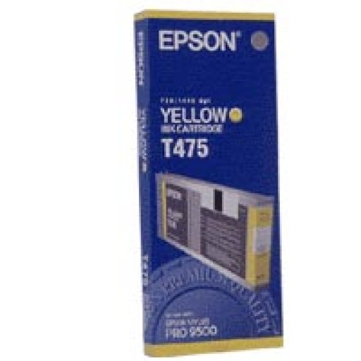 Epson T475 Ink Cartridge - Yellow Genuine