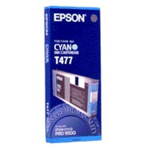 Epson T477 Ink Cartridge - Cyan Genuine