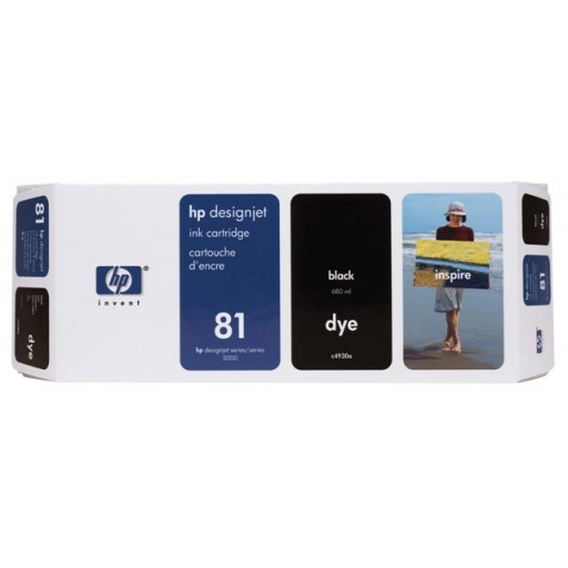 HP C4930A No.81 Ink Cartridge - Black Genuine