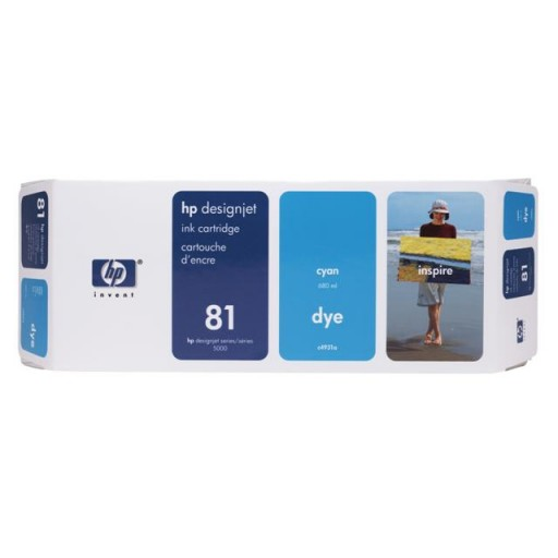 HP C4931A No.81 Ink Cartridge - Cyan Genuine