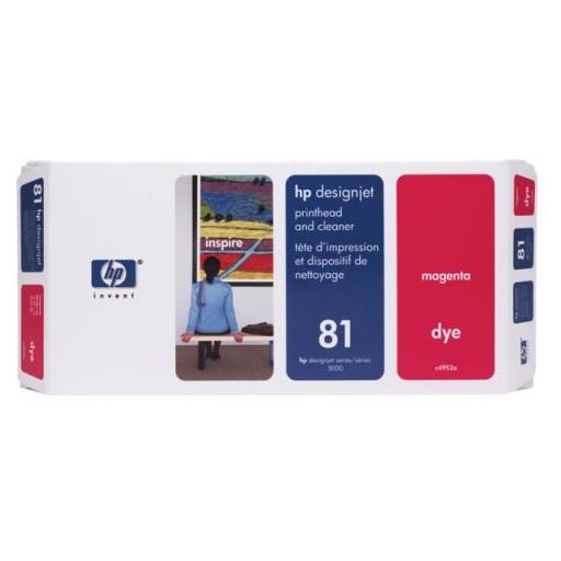 HP C4952A, No.81 Magenta Printhead & Cleaner, Designjet 5000, 5500- Original