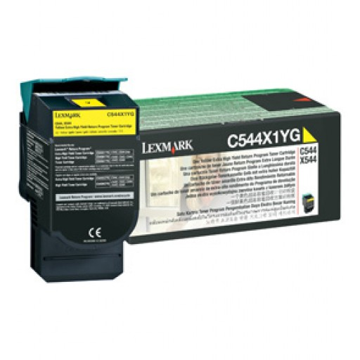 Lexmark C544X1YG, Toner Cartridge- Extra HC Yellow, C544- Genuine