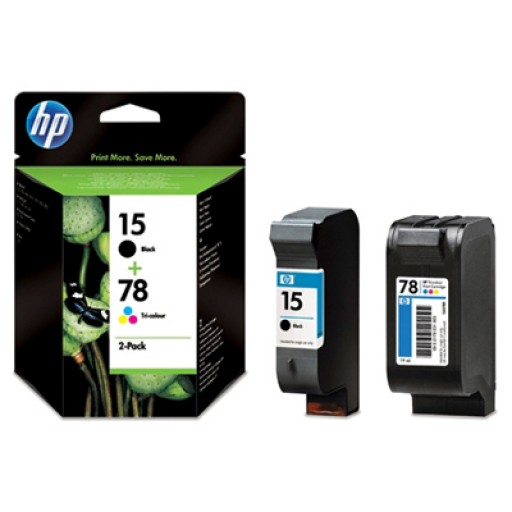 HP SA310AE No.15 / No.78 Ink Cartridge - Black & Tri-Colour Multipack Genuine