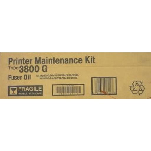 Ricoh 400549 Maintenance Kit Fuser Oil Type 3800 G, AP3800 - Genuine