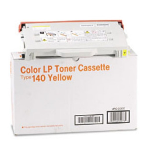 Ricoh 402100 Toner Cartridge Yellow, Type 140, CL1000 - Genuine