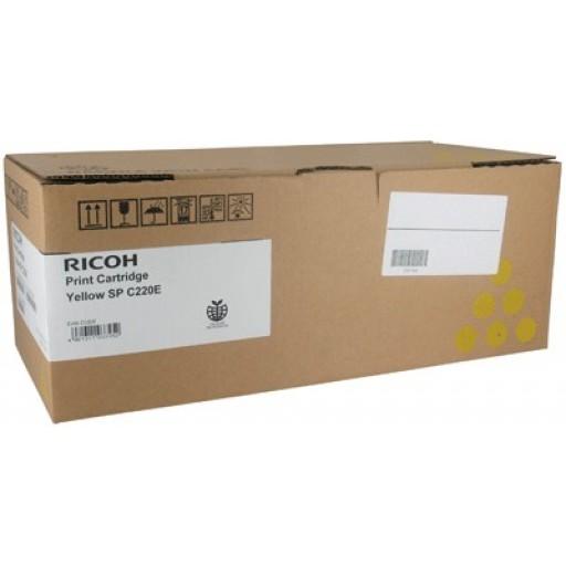 Ricoh 406055, Toner Cartridge Yellow, SP C220, SP C221, SP C222, SP C240- Original
