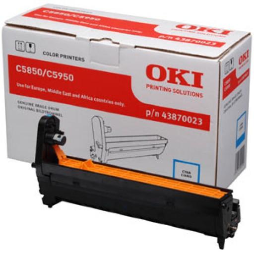 Oki 43870023, Image Drum Unit- Cyan, C5850, C5950, MC560- Original