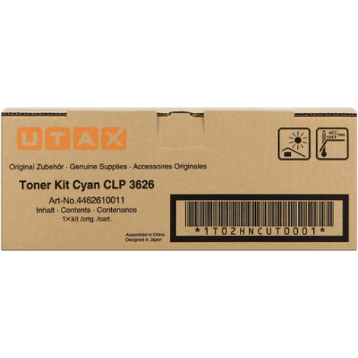 UTAX 4462610011, Toner Cartridge Cyan, CLP 3626, 3630- Genuine