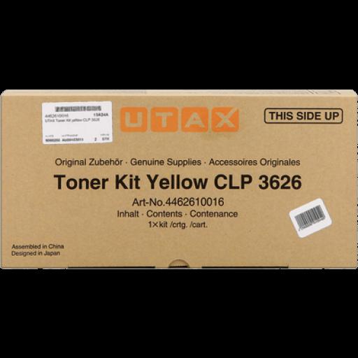 UTAX 4462610016 Toner Cartridge Yellow, CLP 3626, CLP 3630 - Genuine
