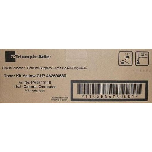 Triumph-Adler CLP4626, CLP4630 Toner Cartridge - Yellow Genuine (4462610116)