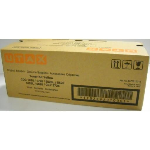 UTAX 4472610016, Toner Cartridge Yellow, CDC 1626, 1726, 5526, 5626, CLP 3726- Original