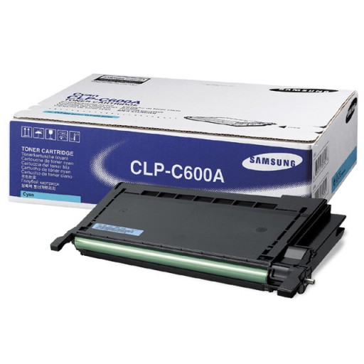 Samsung CLP-C600A Toner Cartridge - Cyan Genuine
