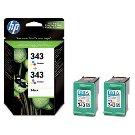 HP CB332EE No.343 Ink Cartridge - Tri-Colour Multipack Genuine
