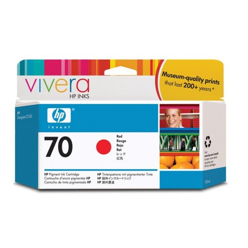 HP C9456A No.70 Ink Cartridge - Red Genuine